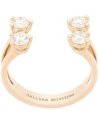 Delfina Delettrez - 18kt Yellow Gold Dots Diamond Ring - Lyst