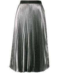 Christopher Kane - Dna Lame Pleated Skirt - Lyst