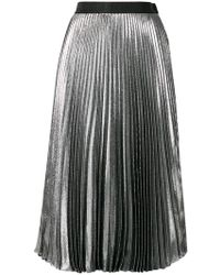 Christopher Kane - Dna Lame Pleated Skirt - Lyst