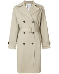 Closed - Double-breasted Trench Coat - Lyst