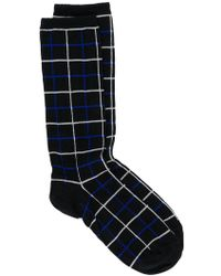 Haider Ackermann - Grid Patterned Socks - Lyst