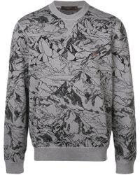 Ermenegildo Zegna - Moutain Print Sweatshirt - Lyst