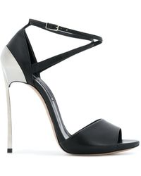 Casadei - Metal-plated Sandals - Lyst