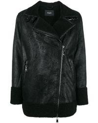 Twin Set - Faux Shearling Leather Jacket - Lyst
