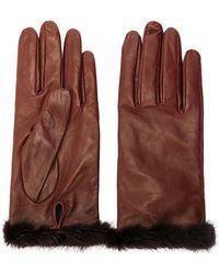 Blumarine - Fur Trimmed Gloves - Lyst
