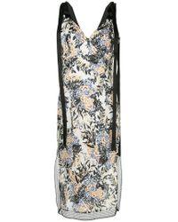 Goen.J - Lace Trimmed Floral Dress - Lyst