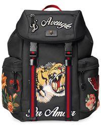 Gucci - 'Techpack' Rucksack mit Stickerei - Lyst