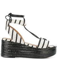 Sonia Rykiel | Striped Wedge Sandals | Lyst