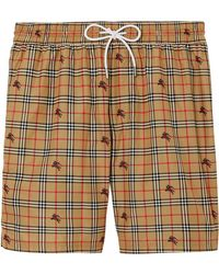 f42ad53274 Burberry British Seaside Print Swim Shorts in Blue for Men - Lyst