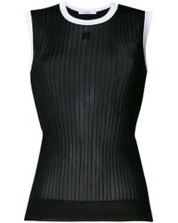 Givenchy - Ribbed Vest Top - Lyst