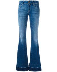 J Brand - Slit Sides Flared Jeans - Lyst