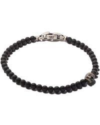 David Yurman - Spiritual Beads Black Onyx And Silver Skull Bracelet - Lyst