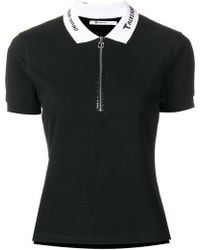 T By Alexander Wang - Embroidered Collar Polo Shirt - Lyst