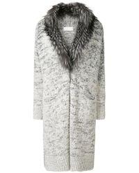 Fabiana Filippi - Fur Collar Cardi-coat - Lyst