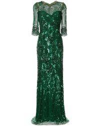 Jenny Packham - Vestido largo con detalles - Lyst