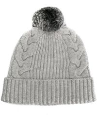 N.Peal Cashmere - Pompom Beanie Hat - Lyst