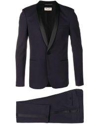 Saint Laurent - Peaked Lapel Two Piece Suit - Lyst