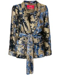 F.R.S For Restless Sleepers - Floral Print Belted Blazer - Lyst