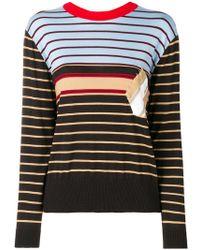 Marni - Stitched-patch Striped Sweatshirt - Lyst