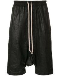 Rick Owens   Drawstring Drop-crotch Shorts   Lyst