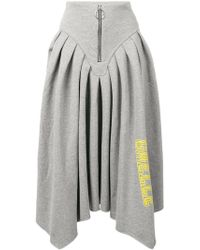 Gaëlle Bonheur - Logo Print Asymmetric Skirt - Lyst