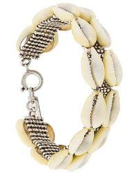 Isabel Marant - Double Stranded Shell Bracelet - Lyst