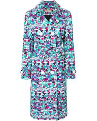 Emilio Pucci - Printed Trench Coat - Lyst