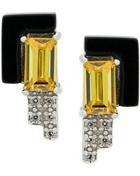 V Jewellery - Lea Stud Earrings - Lyst