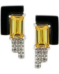 V Jewellery - Lea Stud Earrings - Lyst