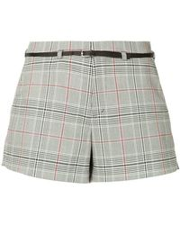 Loveless - Checked Belted Shorts - Lyst