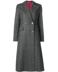 Alberta Ferretti - Double Breasted Coat - Lyst