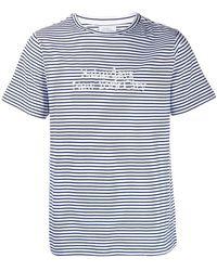 Saturdays NYC - Camiseta de rayas con logo bordado - Lyst
