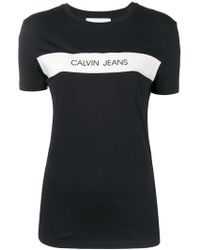 Calvin Klein Jeans - Vinyl Logo Stripe T-shirt - Lyst