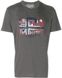 Napapijri - Flag Print T-shirt - Lyst