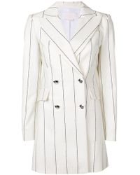 Genny - Double Breasted Pinstripe Jacket - Lyst