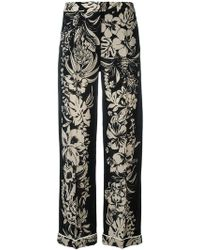 Valentino - Floral Print Trousers - Lyst