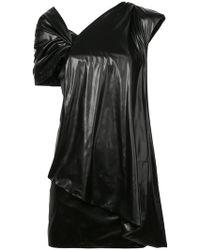 Vionnet - Draped Detail One Shoulder Dress - Lyst