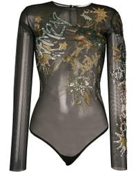 Amen - Bead Embroidered Bodysuit - Lyst