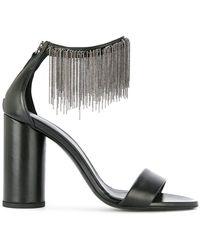 Fabiana Filippi - Beaded Fringed Detail Sandals - Lyst