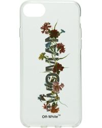 Off-White c/o Virgil Abloh - White, Grey And Red Floral Woman Iphone 8 Pvc Case - Lyst