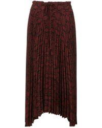 A.L.C. - Pleated Asymmetric Skirt - Lyst