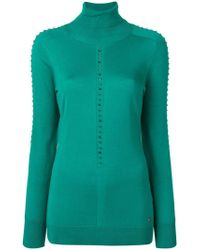 Versace - Studded Knit Top - Lyst