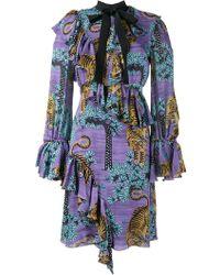 Gucci - Bengal Tiger Print Dress - Lyst