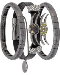 Camila Klein - Leather Trim Three-bracelet Set - Lyst