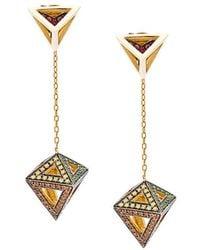 Noor Fares - Orecchini 'octahedron' - Lyst