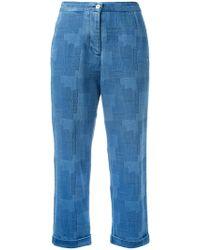 YMC - Patterned Jeans - Lyst