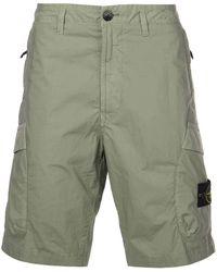 Stone Island - Cargo-Shorts mit Logo-Patch - Lyst