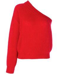 Nina Ricci - One-shoulder Ribbed-knit Jumper - Lyst