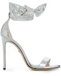 Grey Mer Open-toe Heeled Sandals