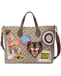 cec154ed6095 Gucci - Borsa Shopping 'courrier' In Tessuto Gg Supreme - Lyst